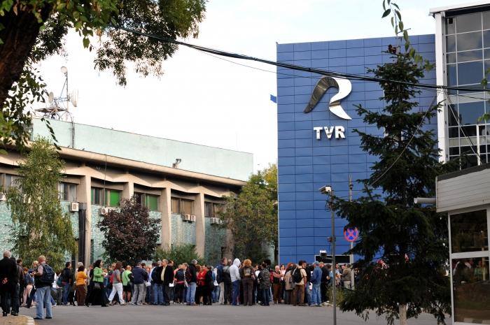 (Arhiva) Protest spontan la TVR, mai 2014