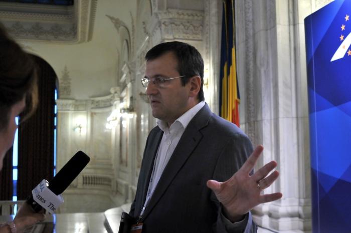 Congresul PPE de la Bucureşti.În imagine Cristian Preda.