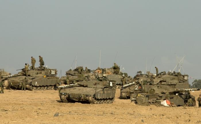 Armata israeliană în apropiere de graniţa cu Faşia Gaza (arhivă).