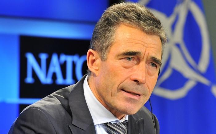 Secretarul General al NATO, Anders Fogh Rasmussen, la Bruxelles
