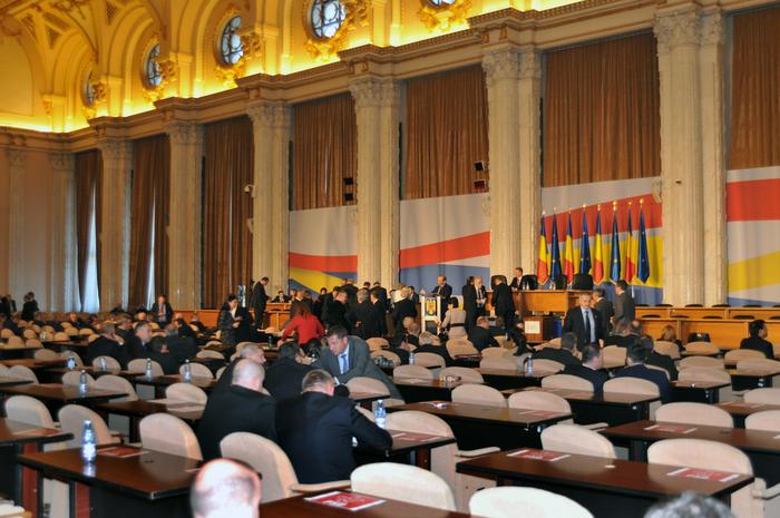 Camerele reunite din Parlamentul Romaniei