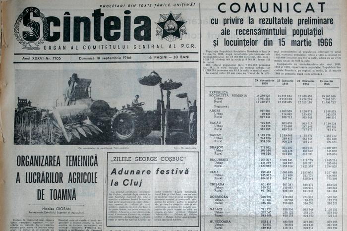 Ziarul Scânteia din 1966