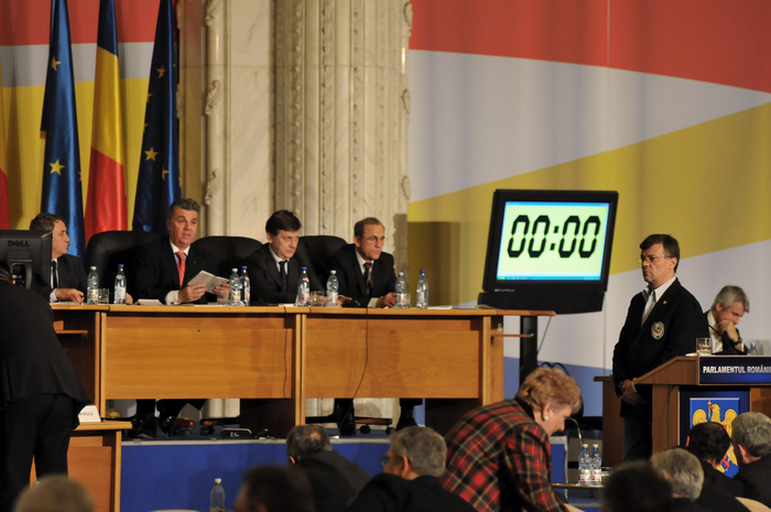 Şedinţa comună a Camerei Deputaţilor şi Senatului, dezbateri asupra Proiectului Legii Bugetului de Stat pe anul 2013