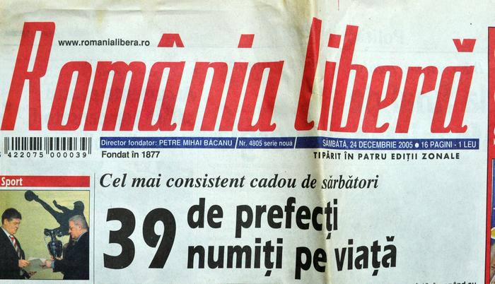 Ziarul România liberă din 24 decembrie 2005