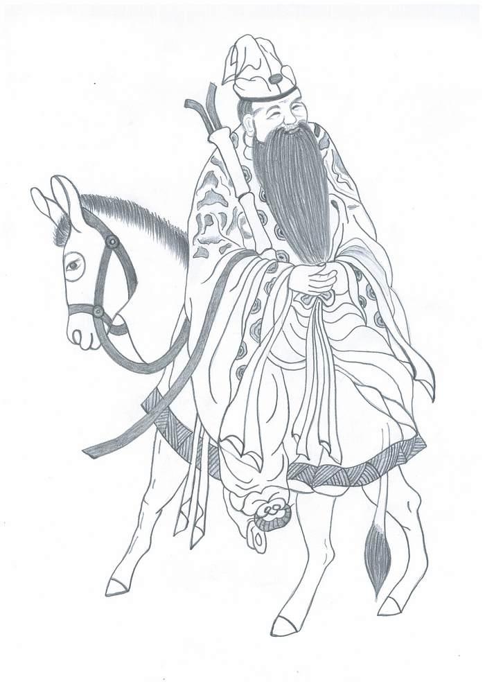 Bătrânul Zhang Guo, taoistul ce-şi călarea măgarul invers