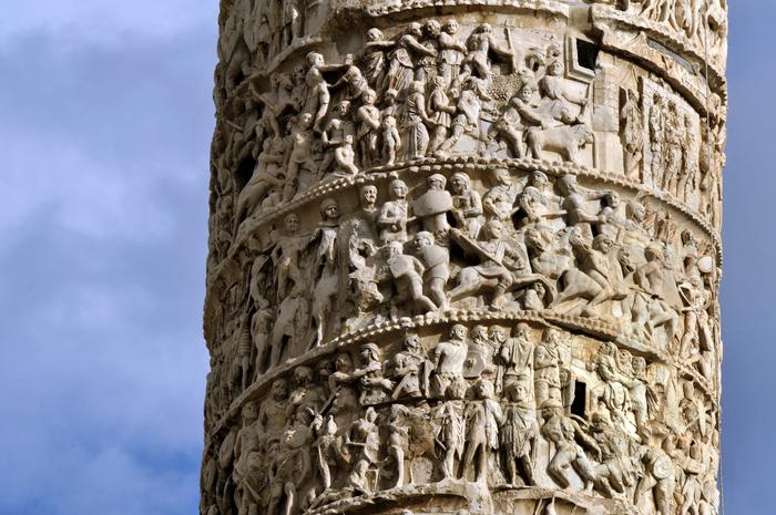 Scene de pe Columna lui Traian din Roma