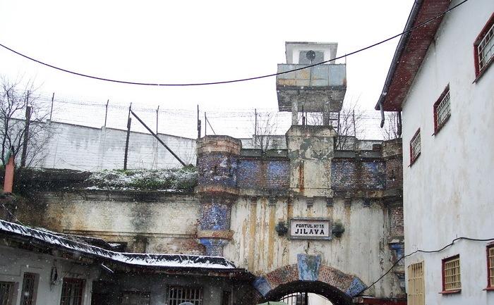 Imagine din incinta închisorii Jilava.