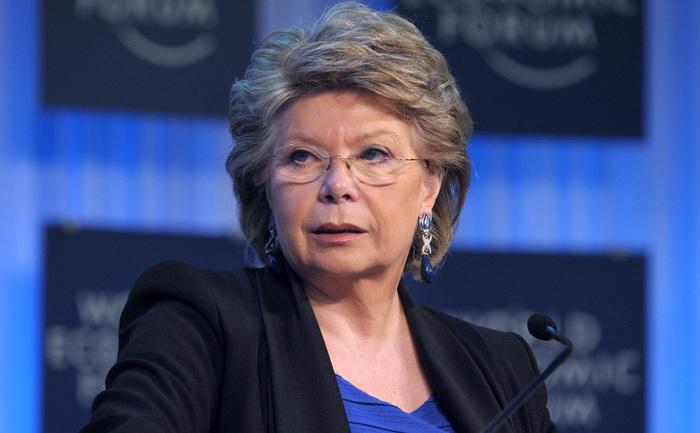 Viviane Reding, vicepreşedinte al Comisiei şi comisarul UE pentru justiţie.