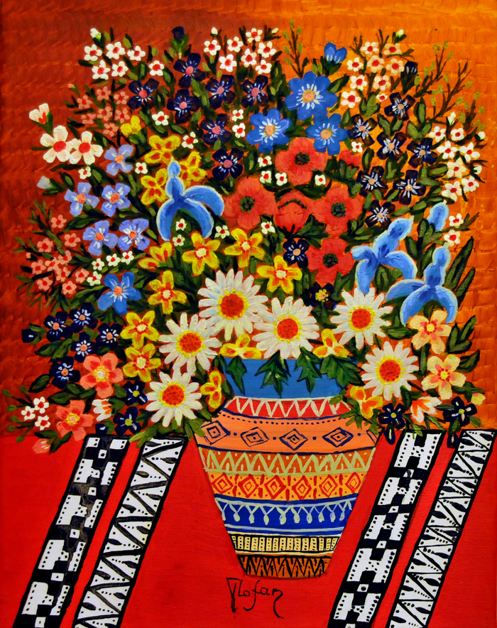 Pictură naivă, inspiraţie folclorică