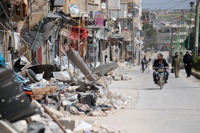 Oraşul Maarat al-Numan, provincia Idlib, 20 martie 2013