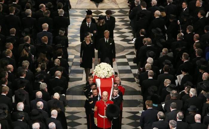 Funeraliile fostului premier britanic Margaret Thatcher, Catedrala St. Paul, Londra, 17 aprilie 2013.