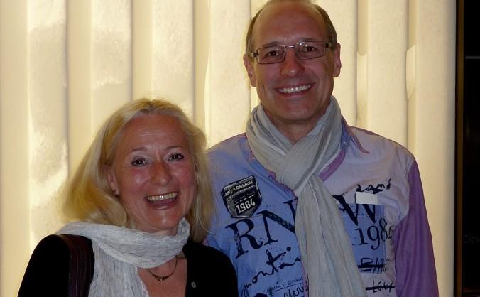 Martina Dietrich, alături de soţul ei Juergen Dietrich, la Teatrul David H. Koch, Centrul Lincoln, în New York, 21 aprilie 2013.