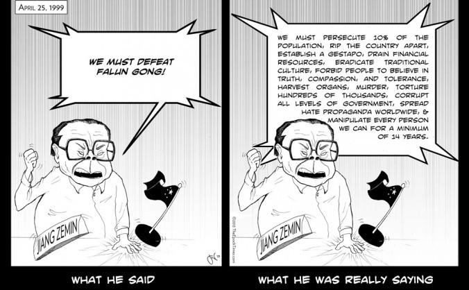 Caricatura Jiang Zemin