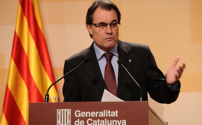 Şeful executivului regional catalan Artur Mas.