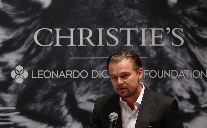 Leonardo DiCaprio a contribuit la adunarea sumei de 35 de milioane de   dolari după ce a participat la licitaţia organizată de casa Christie's, New York, 13 mai 2013.