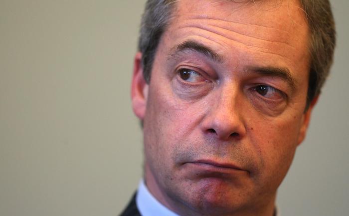 Liderul UKIP, Nigel Farage, martie 2013 în Exeter