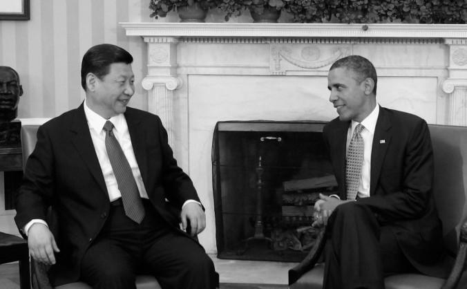 Barack Obama şi Xi Jinping în timpul întâlnirilor din Biroul Oval al Casei Albe de la Washington la 14 februarie 2012