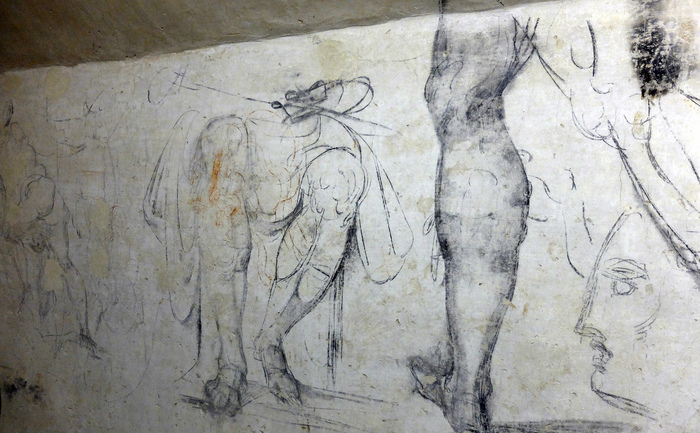 Noi desene ale lui Michelangelo, găsite în bazilica San Lorenzo.
