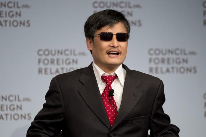 Disidentul chinez Chen Guangcheng vorbeşte la Consiliul pentru Relaţii Externe pe 31 mai 2012 în New York.
