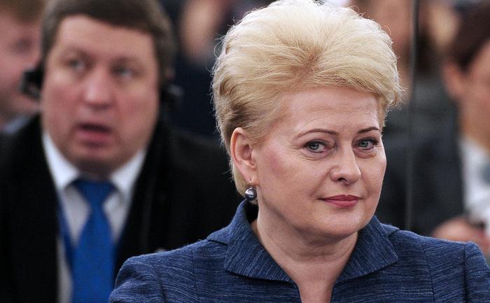 Preşedintele Lituaniei, Dalia Grybauskaite.