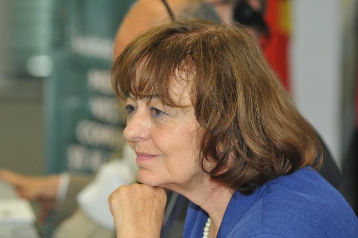 Ana Blandiana la jubileul de 20 de ani al primului Memorial al Victimelor Comunismului din lume găzduit de Reprezentanţa Comisiei Europene, Bucureşti, 16 iulie 2013
