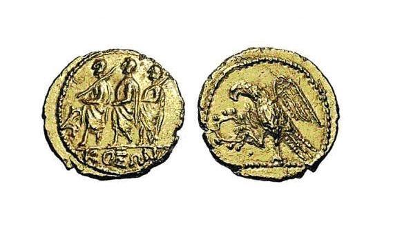 Monedă dacică din aur de tip Koson.