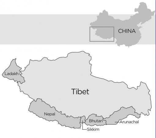 Harta Tibetului
