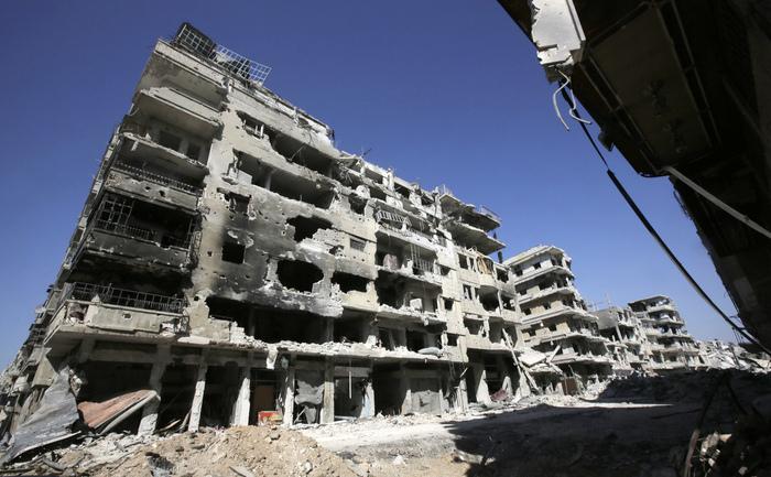 Oraşul Homs, devastat