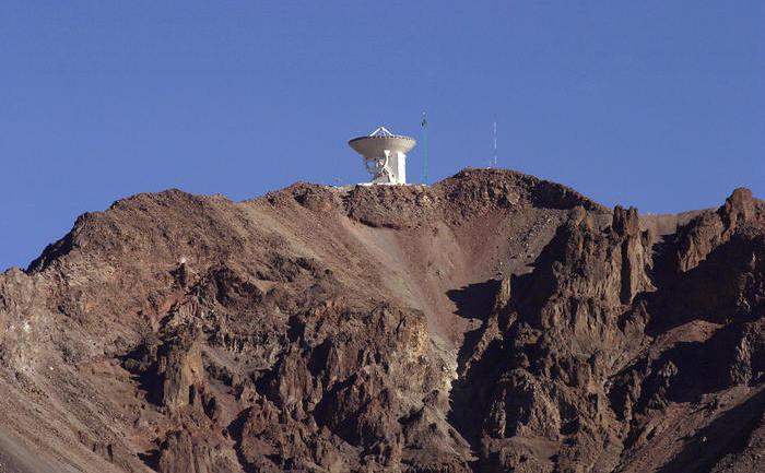 Observatorul de raze gama instalat pe vulcanul Sierra Negra, Mexic.