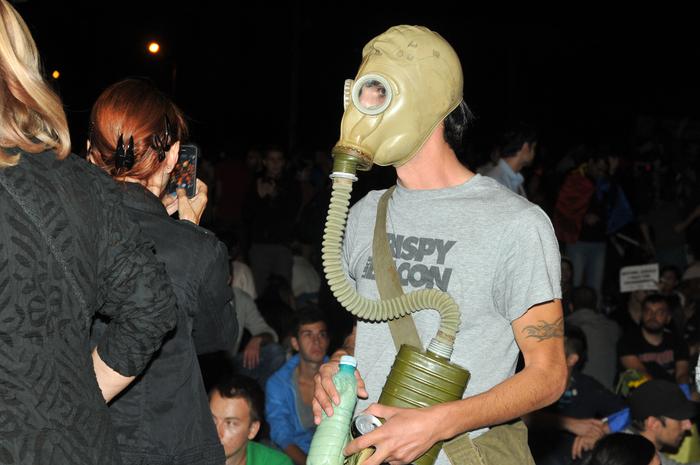 Protest împotriva distrugerii mediului