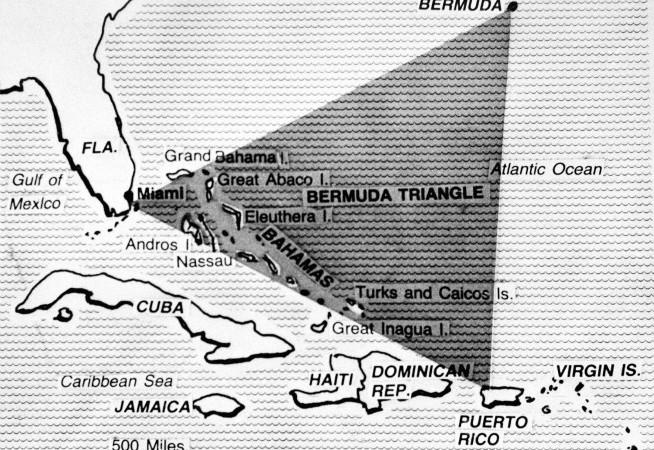 Harta Triunghiului Bermudelor