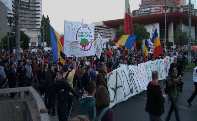 Demonstraţie împotriva proiectului Roşia Montana, Bucureşti, 22 septembrie 2013