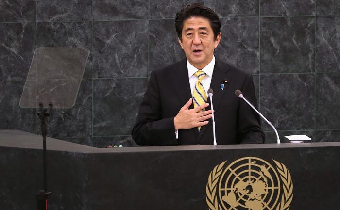 Premierul Japoniei, Shinzo Abe.