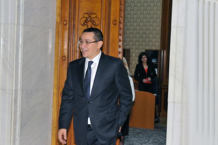 30 septembrie 2013, Parlamentul Romaniei. În imagine Victor Ponta