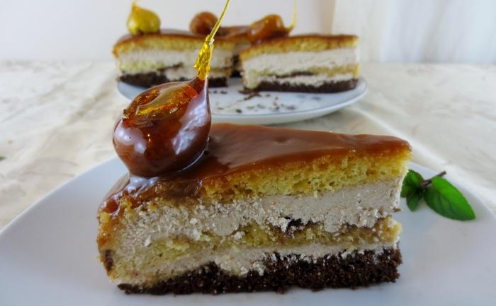 Tort de castane cu caramel