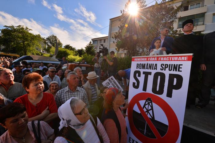 Bârlad, demonstraţie împotriva exploatării Chevron, arhivă