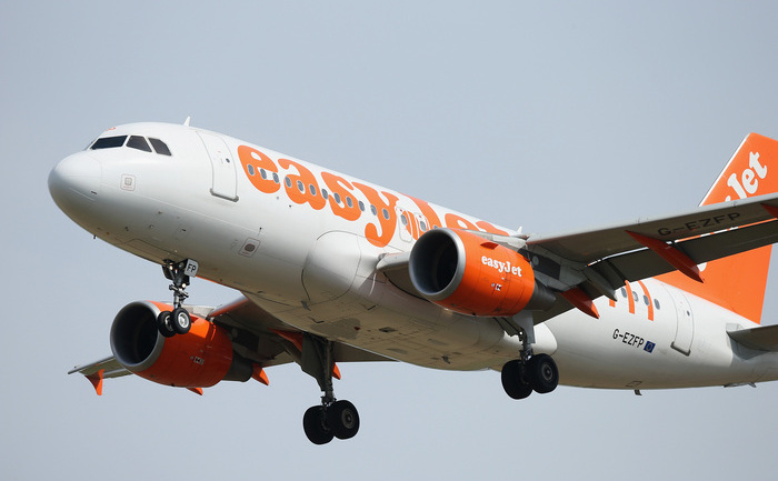 Avion al companiei aeriene easyJet.
