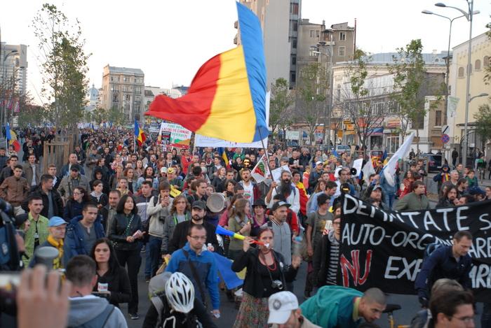 Proteste împotriva proiectului Roşia Montana în Bucureşti, 20 octombrie 2013