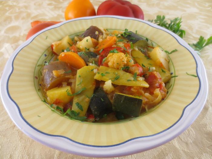 Ghiveci de legume cu orez