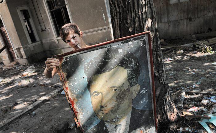 Un portret al dictatorului comunist Nicolae Ceauşescu
