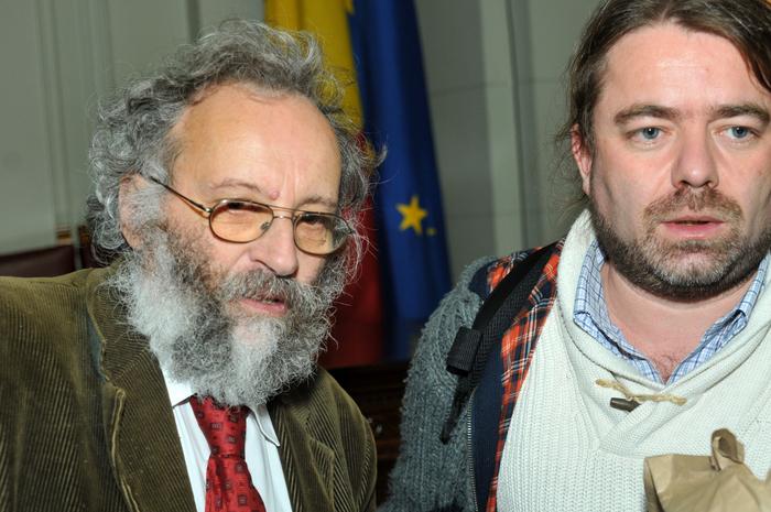 Sesiune ştiinţifică, dezbatere despre Roşia Montană la Academia Română. În imagine, Şerban Sturdza şi Mihai Goţiu