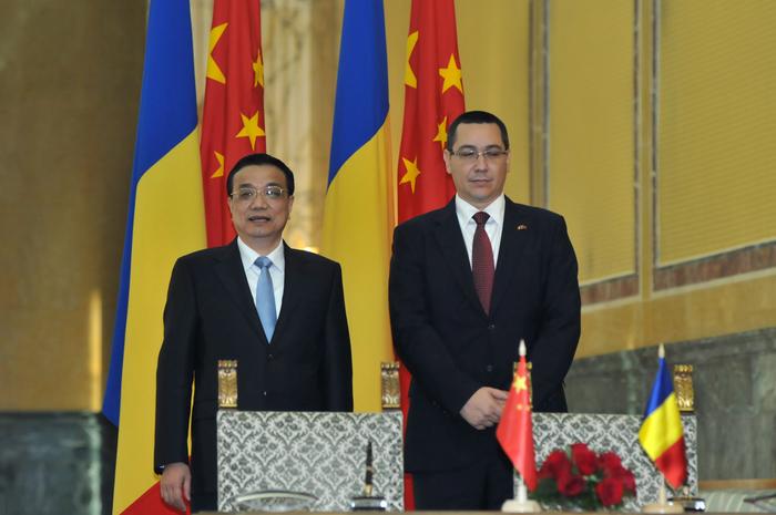 Întîlnirea dintre Victor Ponta Prim-Ministrul României şi premierul Chinei Li Kequiang, precum şi semnarea unor documente de cooperare dintre România şi China