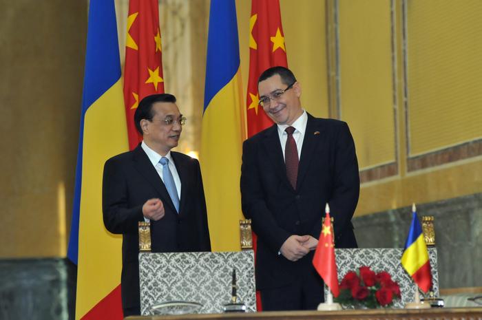 Întîlnirea dintre Victor Ponta Prim-Ministrul României şi premierul Chinei Li Kequiang la Bucureşti