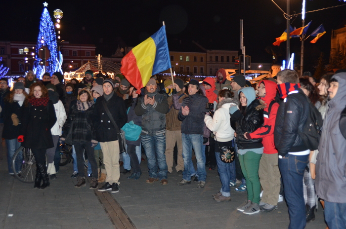 Manifestaţii la Cluj în sprijinul ţăranilor de la Pungeşti, 2 decembrie 2013