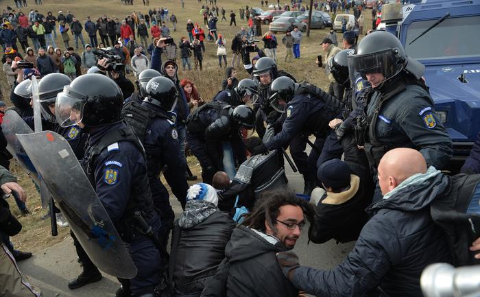 Proteste la Pungeşti