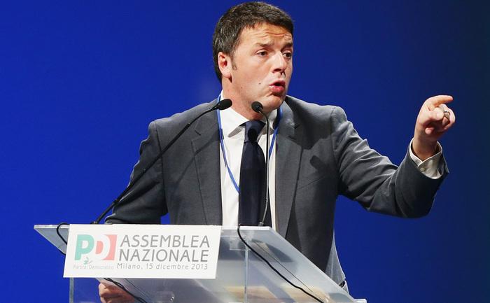 Matteo Renzi, noul secretar general al principalei formaţiuni a stângii italiene, Partidul Democrat (PD).