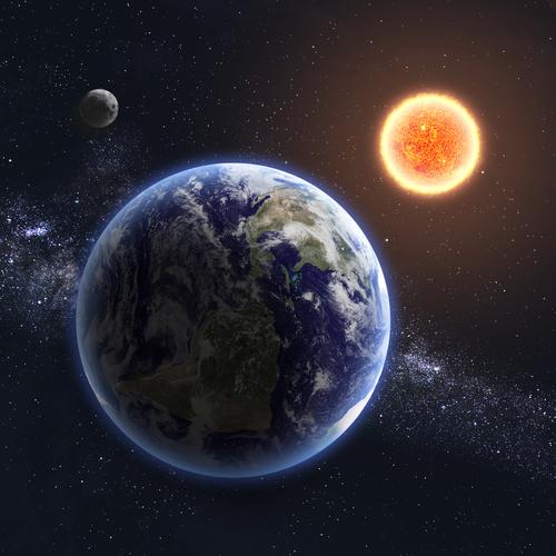 Soarele, Luna şi Pământul