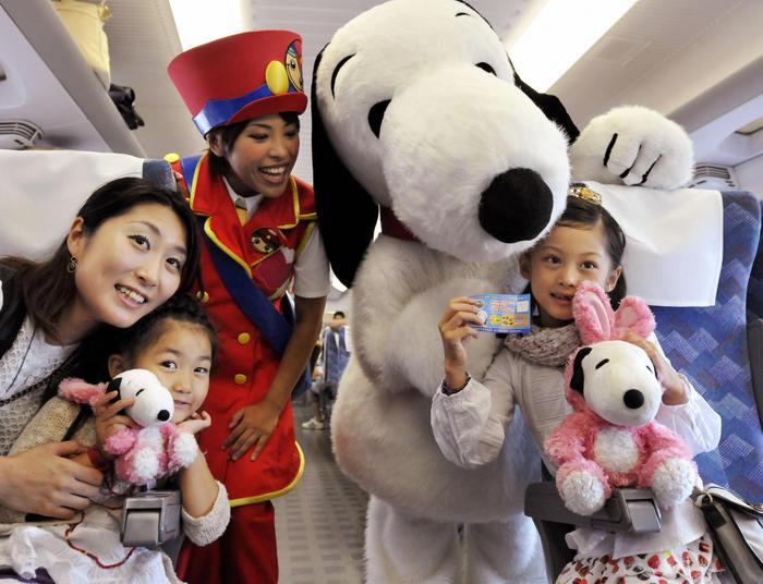 Snoopy, personaj foarte popular printre japonezi.