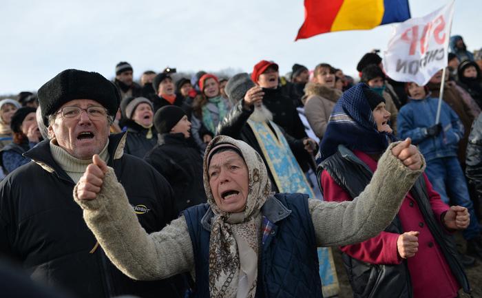 Protest anti-Chevron în Pungeşti