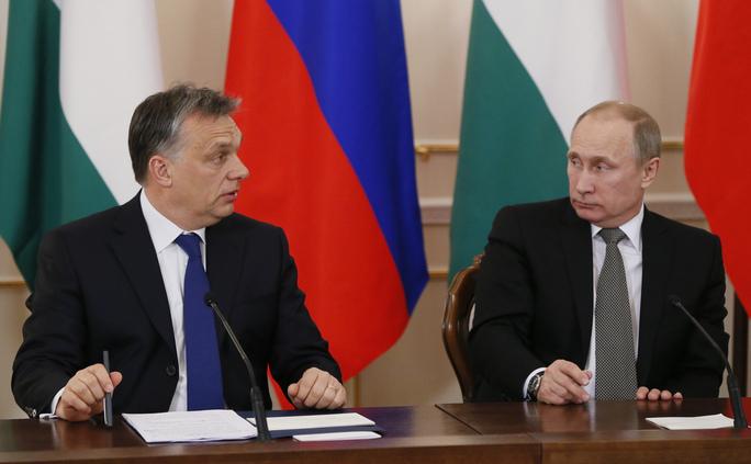 Premierul ungar Viktor Orban şi preşedintele rus Vladimir Putin.